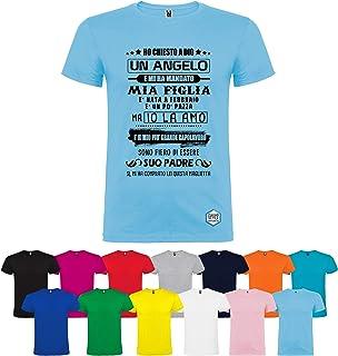 T-shirt personalizzata figlia angelo diversi colori disponibili