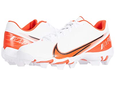 Nike Kids Vapor Shark BG Football (Toddler/Little Kid/Big Kid) (White/Team Orange/White/Black) Kids Shoes