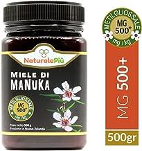 Miele di Manuka 500+ MGO 500 gr   Prodotto in Nuova Zelanda, Attivo e Grezzo, Puro e Naturale al 100%   Metilgliossale Testato  