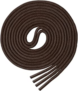 Round Waxed Shoelaces (3 pair) - for Oxford Shoes Round Dress Shoes Boots Leather Shoe Laces
