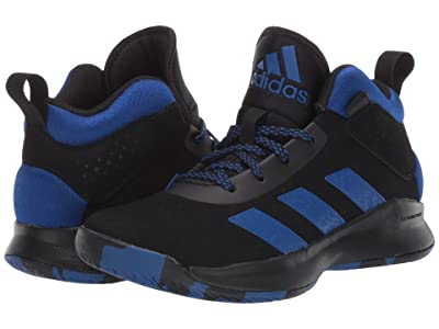 adidas Kids Cross Em Up 5 Basketball (Little Kid/Big Kid) (Core Black/Collegiate Royal/Core Black) Kids Shoes