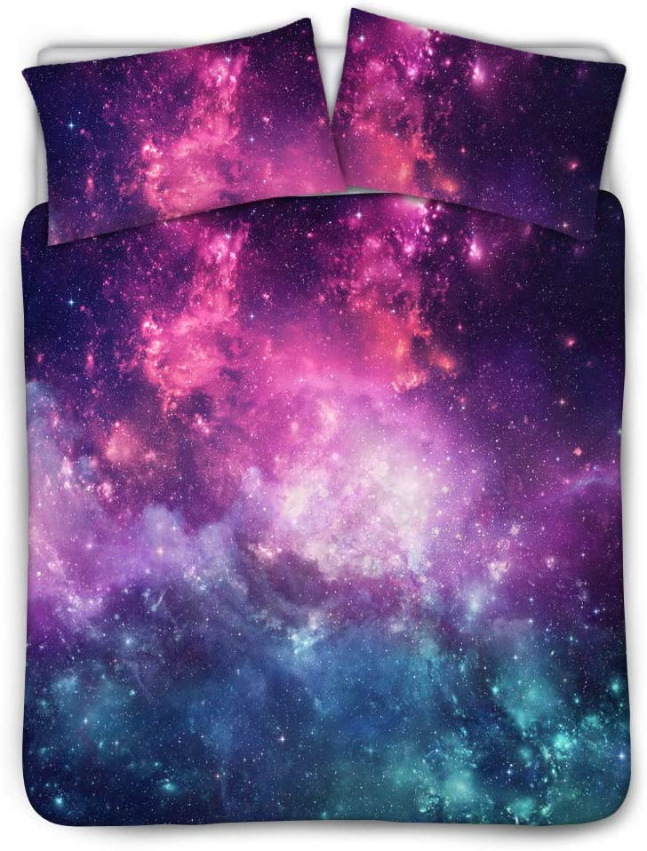 Belidome Galaxy Bedding Kids Credence Duvet Cover 2 Pillows with Set Factory outlet Case