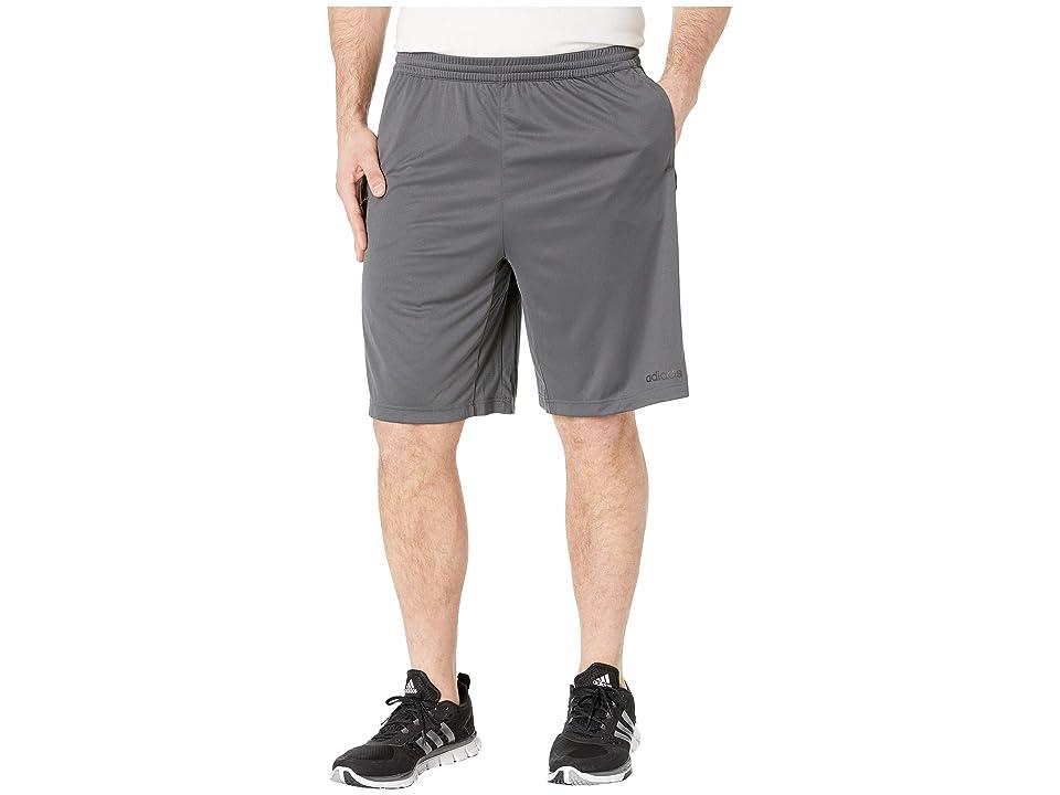 adidas - adidas Big Tall D2M 3-Stripe Shorts  (Grey Six/White)