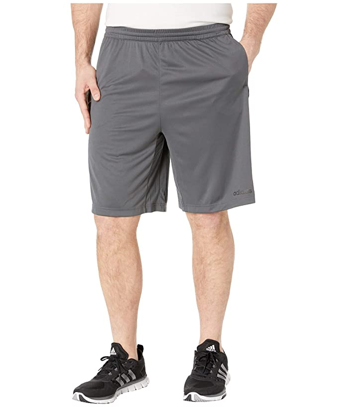 adidas Big Tall D2M 3-Stripe Shorts (Grey Six/White) Men