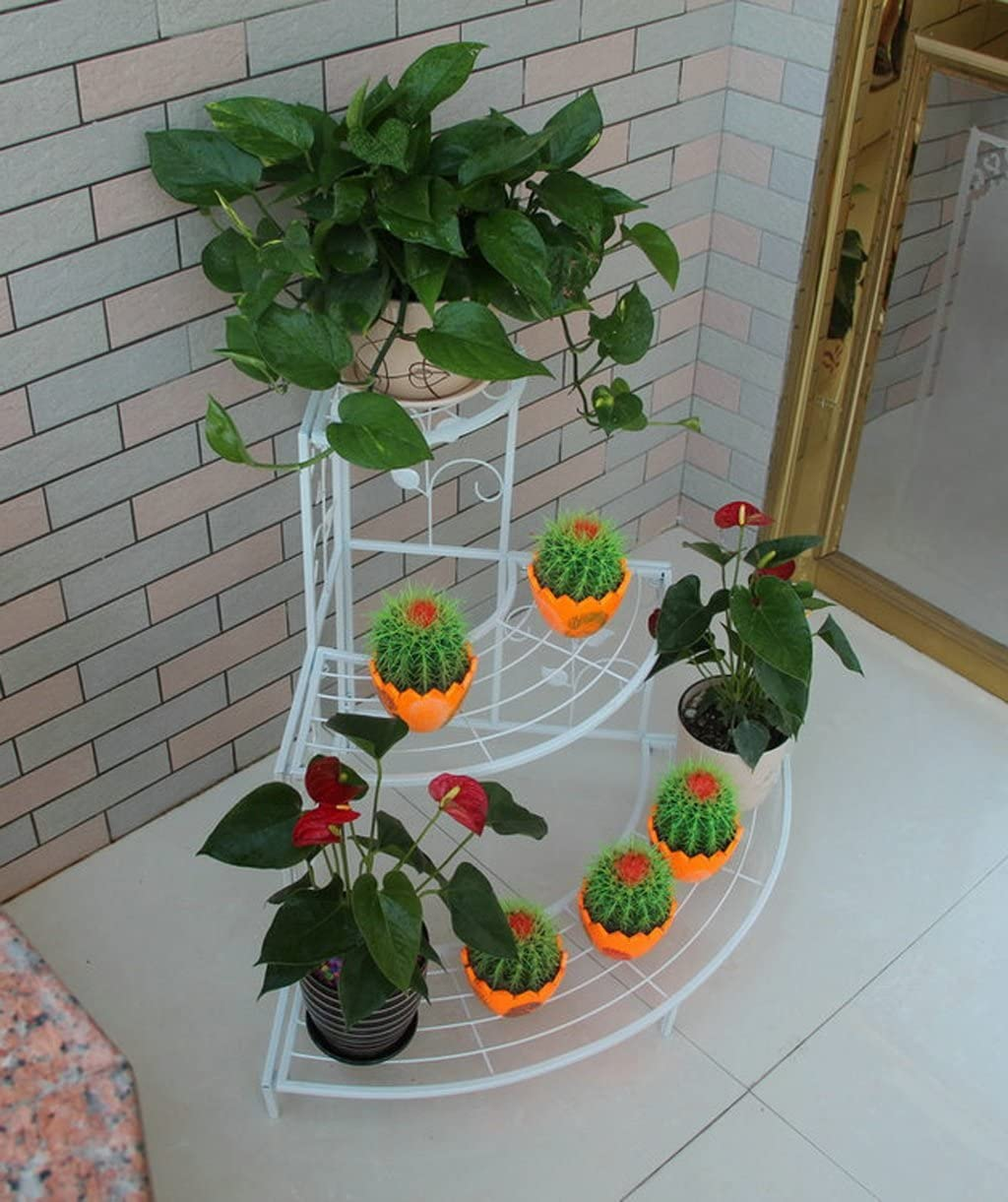 coin multi-sol /échelle fleur jardin de bonsa/ïs balcon ext/érieur /étag/ère dangle Couleur : A1-106*85cm ZENGAI Continental fer racks de fleurs