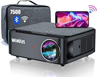 Proyector WiFi Bluetooth Full HD 1080P, 7500 WiMiUS Proyector WiFi 1080P Nativo Soporte 4K Ajuste Digital 4D Función de Zo...