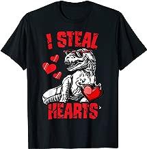 Boys Valentines Day Shirt Kids Dinosaur T rex I Steal Hearts