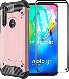 FANFO® Funda para Motorola Moto G8 Power, protección contra Golpes de TPU + PC Resistente a arañazos (Doble Capa) Carcasa ...