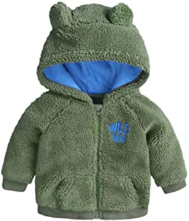 Generic 1-9Y Kids Baby Warm Girls Boys Flannel Winter Fleece Jackets Sweatshirt Thick Coats