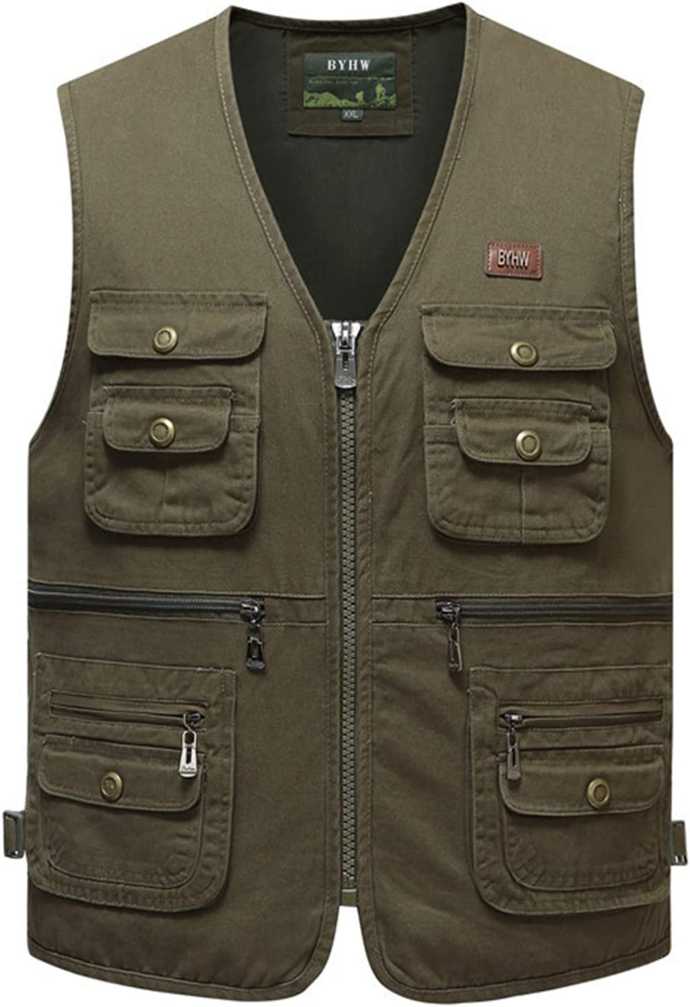Outdoor Leisure Fishing Vest,Sport Photography Vests, Middle-Aged and Elderly Men's Cotton Clothing,2,5XL