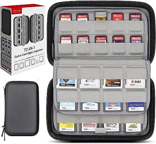 Etui pour 72 Cartouches de Jeu, Sisma Pochette de Rangement pour 40 Jeux Switch PS Vita ou Cartes SD et 32 Jeux Ninte...