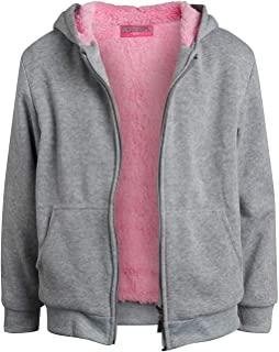 Coney Island Girls Sherpa-Lined Full-Zip Fleece Sweatshirt Hoodie