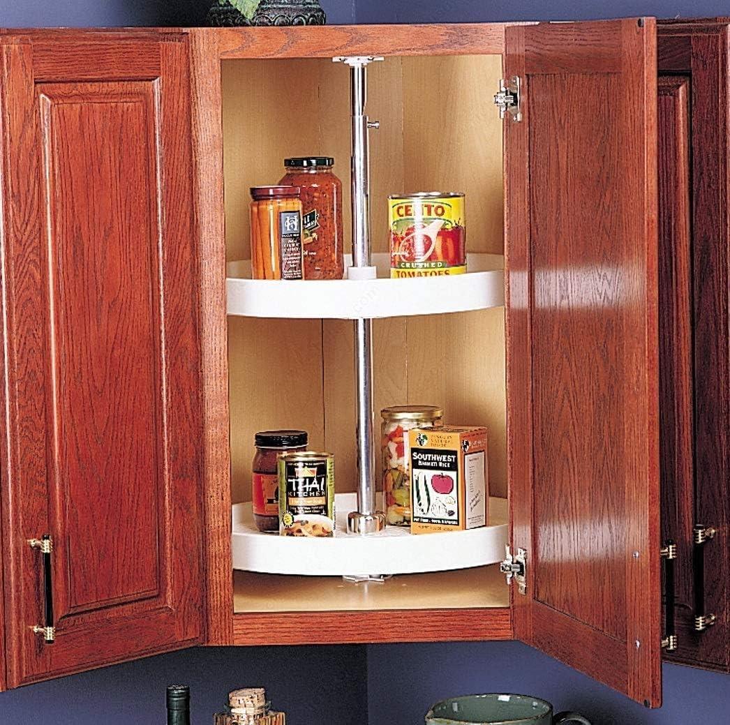 RICHELIEU White Polymer Discount is also underway Round Corner Cabinet Lazy 2-Shelf Susan Now on sale