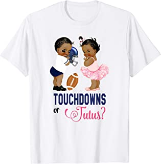 Ethnic Touchdowns or Tutus Gender Reveal Party T-Shirt