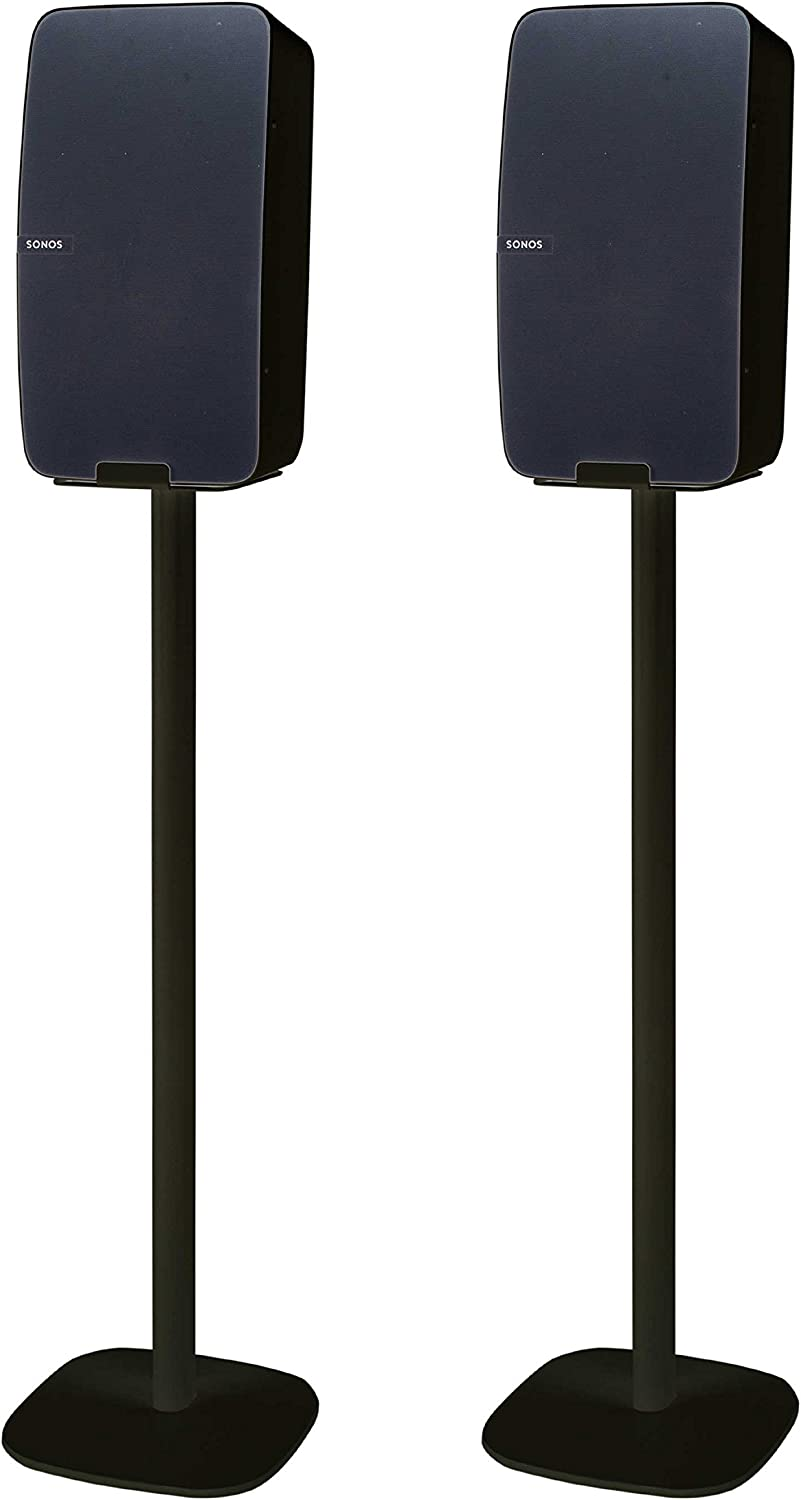 Vebos Floor Stand Play 5 gen 2 Black Set - greenical - Compatible with Sonos Play 5