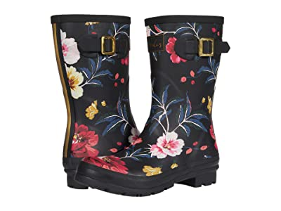 Joules Molly Welly (Black Floral 4) Women