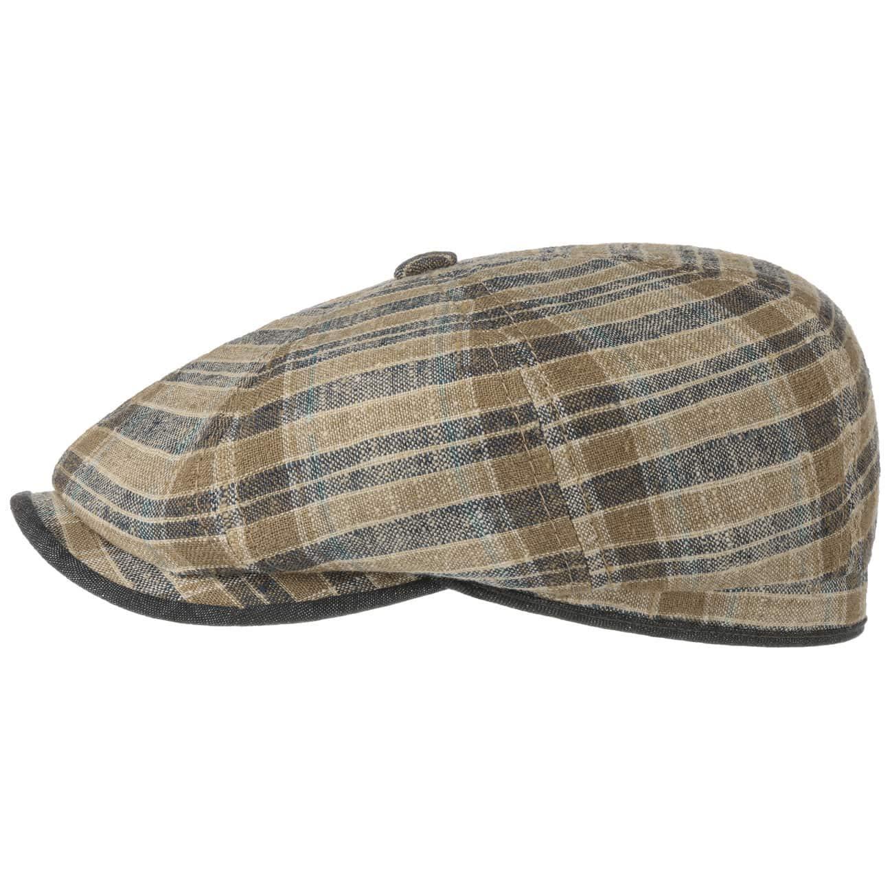 Stetson Sun Guard ® vintage FlatCap Duck Cap Glissière Level 6 Marron Nouveau Tendance