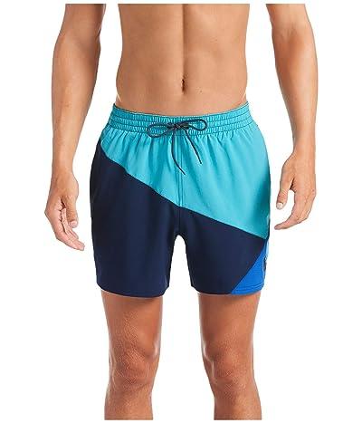 Nike 5 Logo Jackknife Volley Shorts (Oracle Aqua) Men