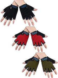 Pairs Kids Half Finger Gloves
