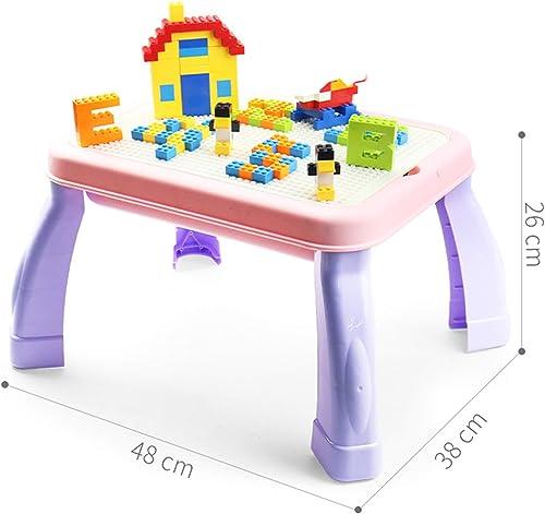 genuina alta calidad SEIGNEER Mesa infanti infanti infanti Mesa de Juego Mesa de Bloques mobiliario Infantil Juego de Mesa y 150 Piezas Ladrillos  online barato