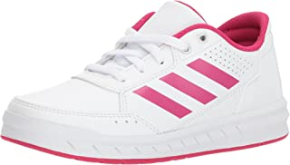 adidas Unisex-Kids Altasport Sneaker, White/Bold Pink/White, 2 M US Little Kid