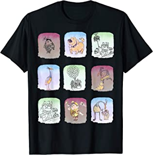 Disney Pixar Up Movie Scene Squares T-Shirt