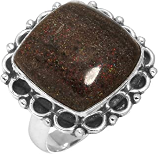 Solid 925 Sterling Silver Ring Natural Honduran Black Matrix Opal Gemstone Unique Jewelry Size 6.5