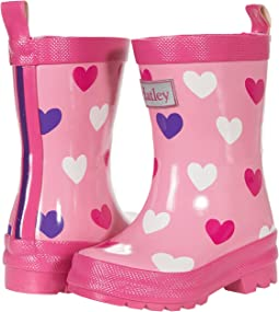 Scattered Hearts Shiny Rain Boots (Toddler/Little Kid)