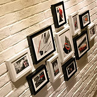 OH Conjunto de marcos de fotos de madera en el centro comercial residencial montado en la pared Marcos de fotos retro Wall...