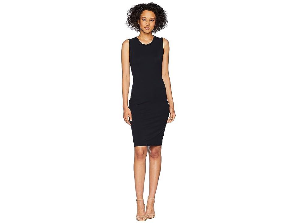 LAUREN Ralph Lauren Knotted-Back Jersey Dress (Polo Black) Women