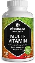 Vitamaze Multivitaminico ad alto dosaggio capsule - 23 vitamine efficaci A-Z e minerali, sostanze minerali e oligoelementi - 120 capsules vegetariane per 4 mesi senza additivi