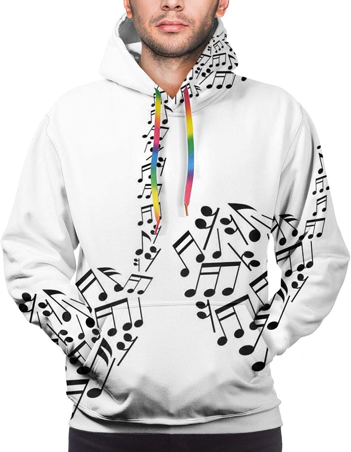 Men's Hoodies Sweatshirts,Bicycle with A Basket Full of Spring Flowers Wedding Concept Elements