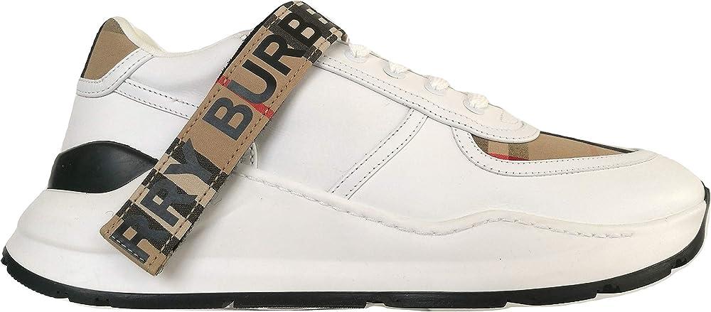Burberry, sneakers scarpe per uomo, in tessuto e pelle 4500548276