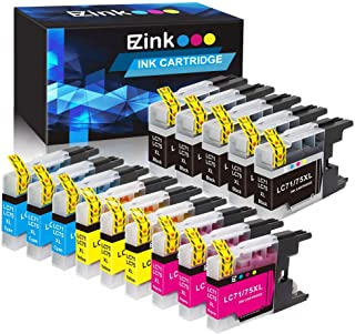 E-Z Ink (TM) Compatible Ink Cartridge Replacement for Brother LC75 LC 79 XL High Yield To Use With MFC-J6510DW MFC-J6710DW MFC-J6910DW MFC-J280W MFC-J425W (5 Black, 3 Cyan, 3 Magenta, 3 Yellow)14 Pack