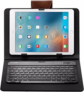 BlitzWolf 3 Colors LED Backlight Bluetooth Keyboard PU Leather Case For 7-10 Inch Tablets iPad Samsung Tab (Black)