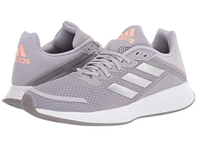 adidas Kids Duramo SL (Little Kid/Big Kid) (Glory Grey/Silver Metallic/Light Flash Orange) Girls Shoes