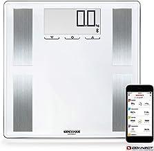 Soehnle Shape Sense Connect 100 - Báscula de análisis corporal con aplicación, color blanco