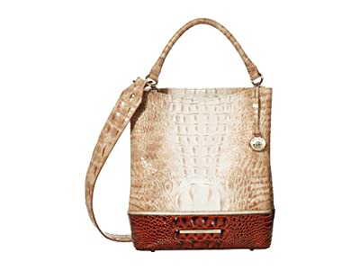Brahmin La Sierra Amelia Bucket Bag (Praline) Handbags