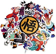 Dragon Ball Z Set of 36 Assorted Pieces Decal Stickers Very Rare Super Saiyan God SSJ Stickers for DBZ Lovers and Fans