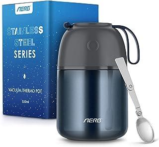 Aerb ThermosAlimentaireChaud: 530ML Boîte Repas Isotherme Utilise la Technologie du Vide à Haute Température sans BPA, P...