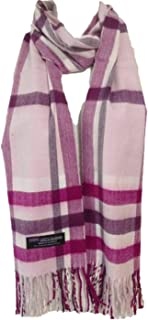 """100% Authentic Real Cashmere Plaid Scarf - Unisex (Men/Women) - 12"""" x 72"""" long scarf - Birthday Gift/Christmas/Holiday Gift"""