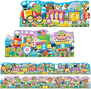854631.tlj Puzzle Doubles - Giant Abc.& 123 Train Floor Puzzles .regular, The Learning Journey, multi-colour