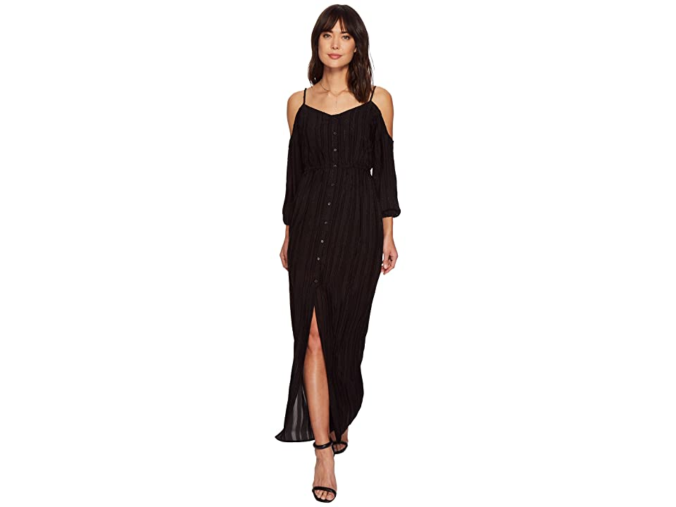BB Dakota Keaton Textured Maxi Dress (Black) Women