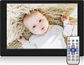TENSWALL 10.1 Inch Digital Picture Frame, Advance Digital Photo Frame with Background Music, 1080P Video HD 1280x800 16:10 IPS Screen, Support 32GB USB Drives/SD Card, Remote Control -Black