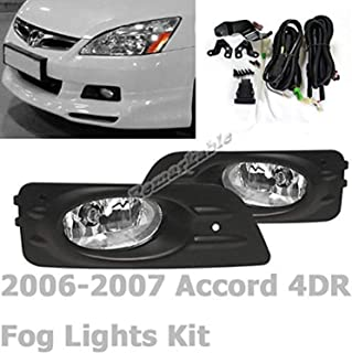 RP Remarkable Power, Fit For 2006 2007 Accord 4DR Clear Fog Light Kit FL7048