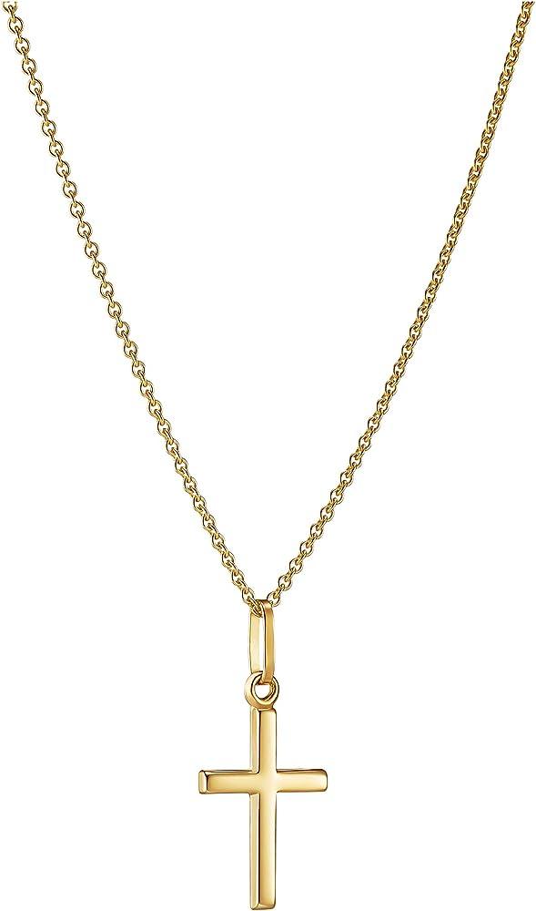 Identim ,collana da donna con ciondolo a forma di croce, in oro giallo 8 kt(1,9 gr) 10130VG/45+94753