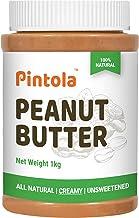 Pintola All Natural Peanut Butter (Creamy) (1 kg) (Unsweetened, Non-GMO, Gluten Free, Vegan)