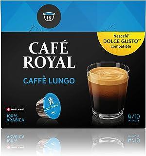 Café Royal Caffè Lungo Nouvelle Génération - dosettes Compatibles avec le Système NESCAFE Dolce Gusto
