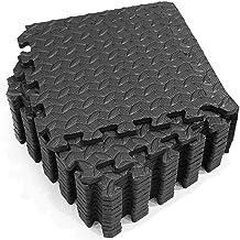 QOTSTEOS Schuim oefenmatten, 12 stuks in elkaar grijpende tegels beschermende vloermat, antislip fitnessmat voor oefenappa...