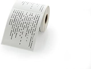 Veterinary Labels, Exam Checklist - 250 Labels Per Roll, 1 Roll Per Package